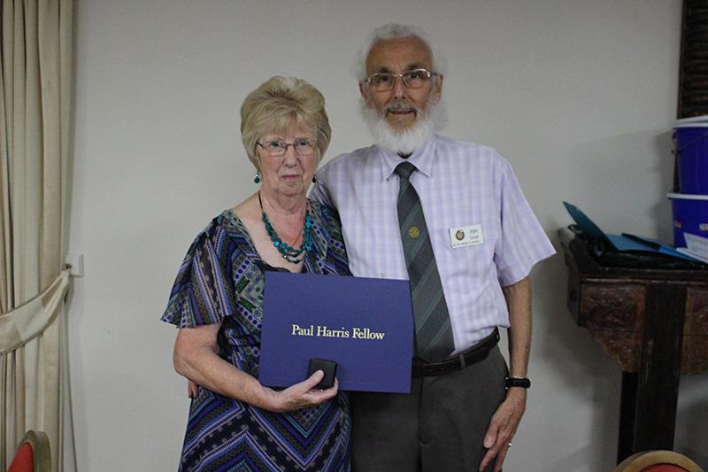 Member Awards & Presentations - John and Pat LLoyd receiving their Paul Harris Fellow