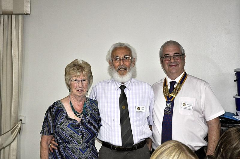 Member Awards & Presentations - John  and Pat receiving their award from President Howard