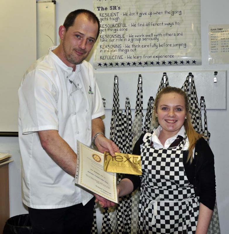 Young Chef Preston Lodge Heat 2013 - Judge Martin Kelly presents Amy Sinclair her runner up prize DSC5148 1