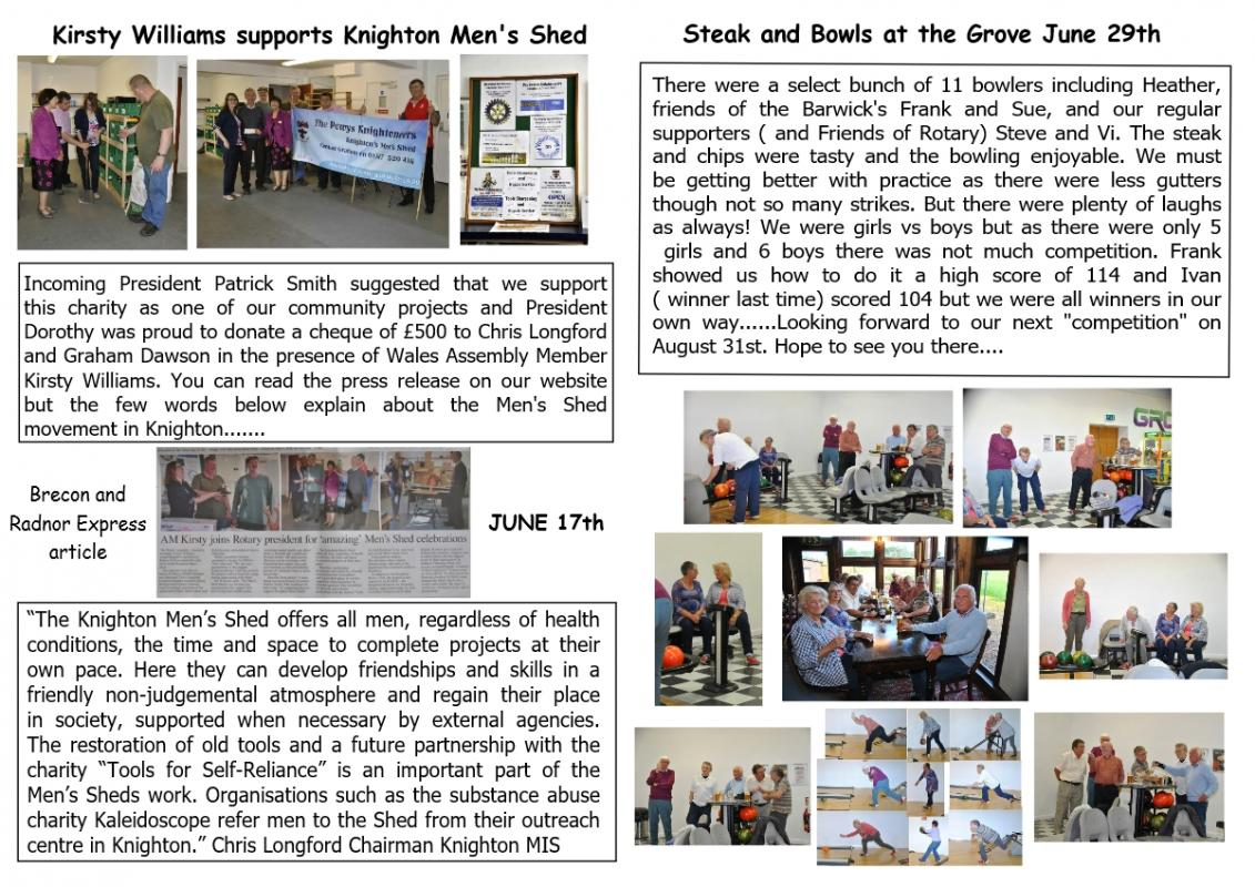 Knight Club July 2016  - Page 2 and 3 of July Knight Club