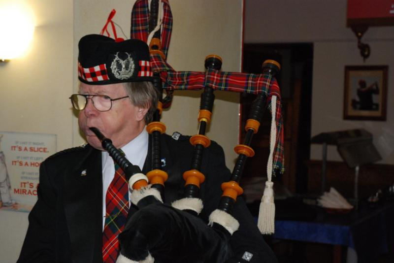 BURNS NIGHT - Just to prove that Barry does play the bagpipes.