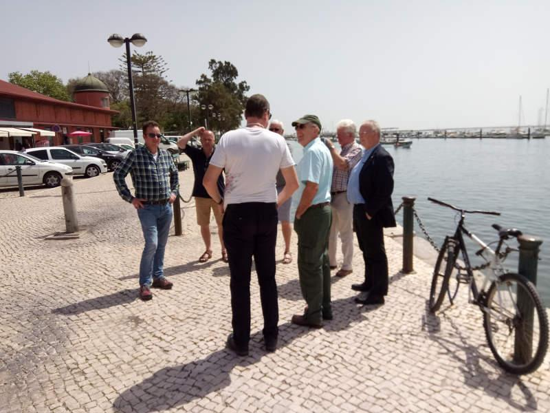 Visit to Rotary e-club in Olhao, Portugal in 2018 - Warm weather beside the sea - this is Rotary!