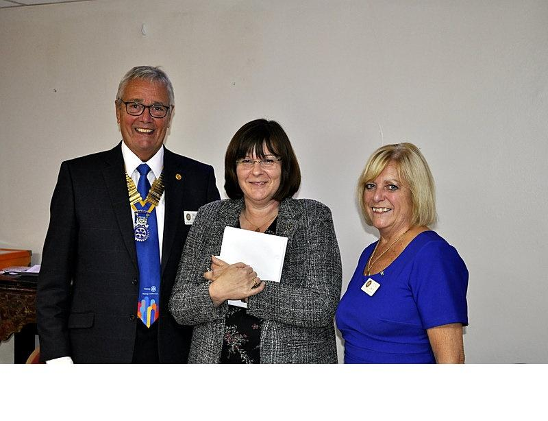 New Members - Kate being welcomed by President Bruce. Kate was introduced by club member Lynne.