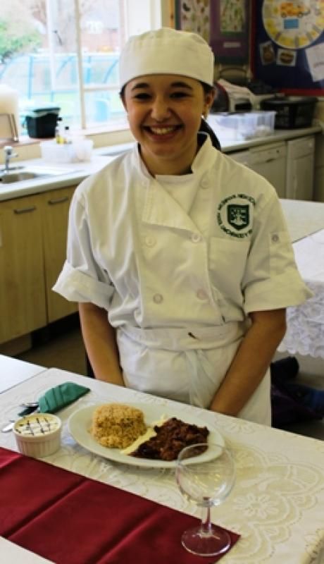 Young Chef 2014/15 - Kayley with her meal