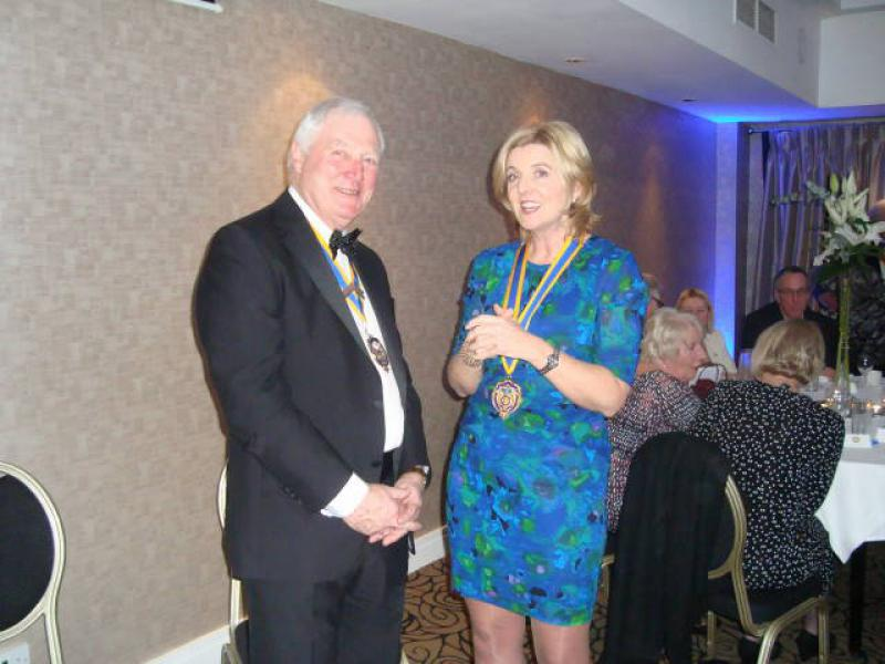 Joint Presidents Night 2014 - Keith Peacocok & Fiona Swan