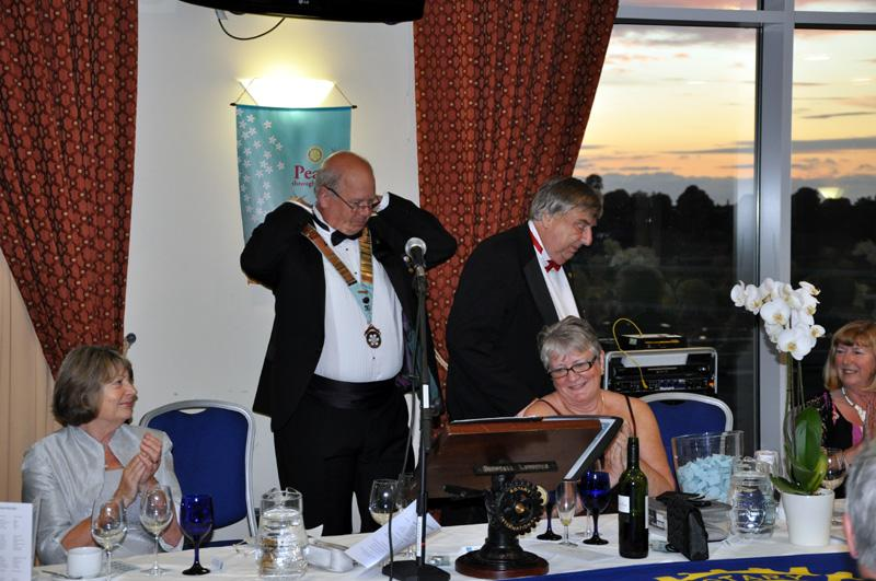 District 1040 Handover June 2012 - Keith now District Governor.