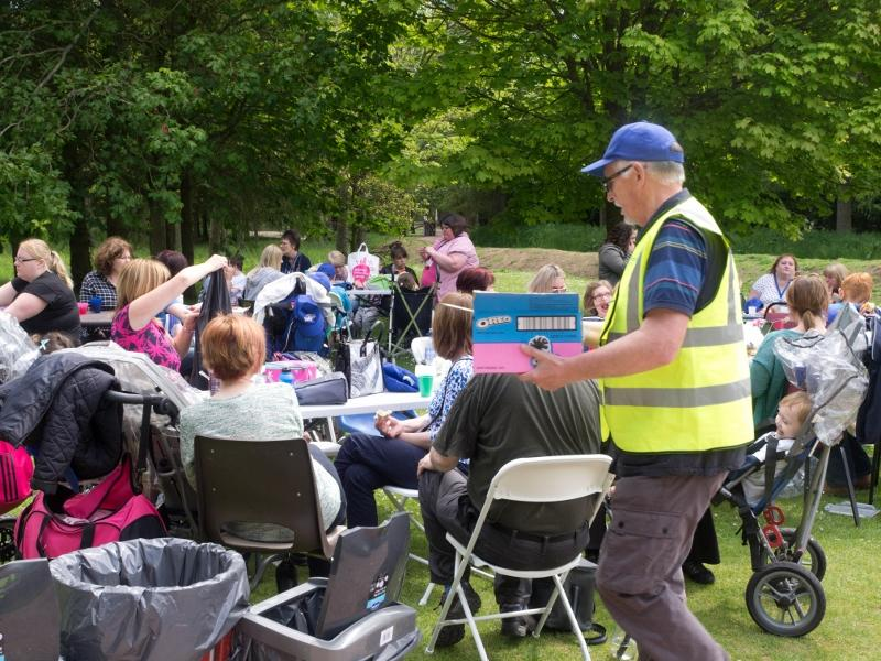 KidsOut 2015 - Ice Cream time with Rotarian Ken Johnson