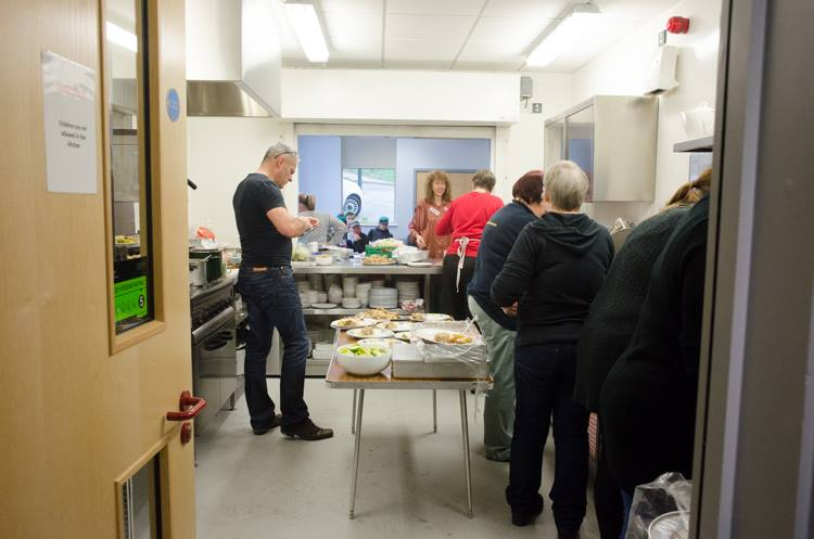 Christmas Lunch for the homeless and those on their own at Christmas - Kitchen on Christmas day