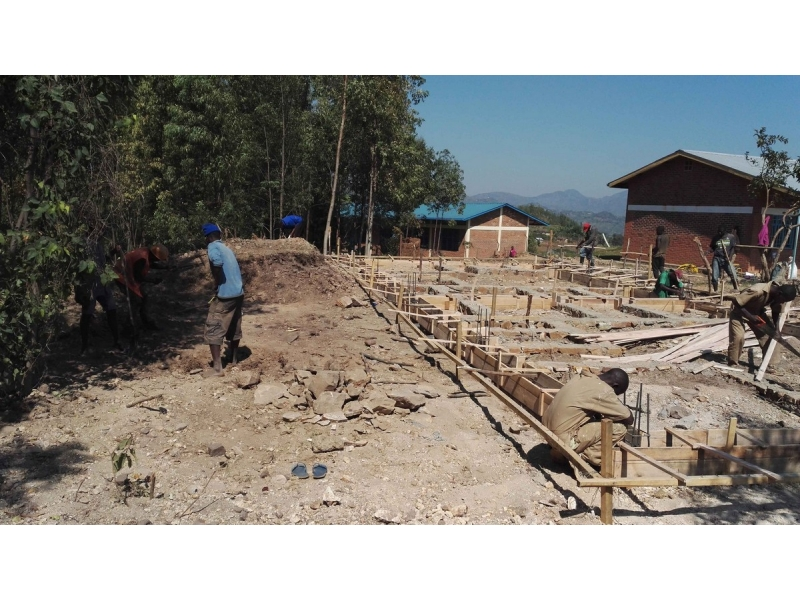 Refurbishing the Komera Centre  - Setting out the footings - all hand-dug (2)