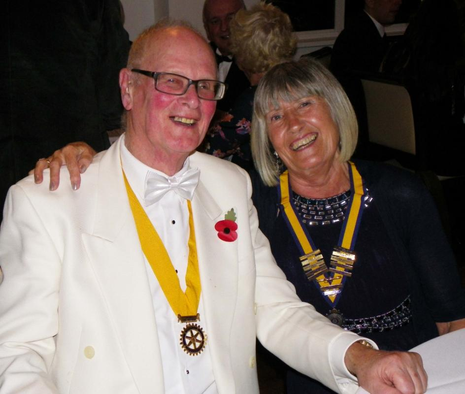 Ladies Evening - Inner Wheel President Pauline and Toastmaster Ian Royle