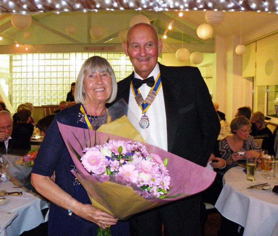 Ladies Evening - Inner Wheel President Pauline and Rotary President David