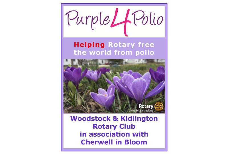 Growing Together to End Polio Now - Sponsored by Cherwell in Bloom
