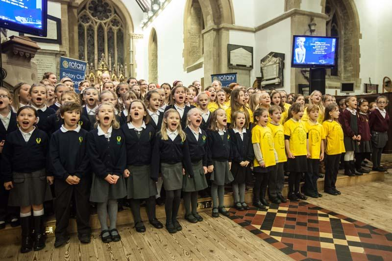 Children Singing for Children  - Massed Choirs singing songs from Frozen