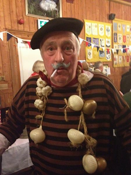 A French Evening - President Graham, winner of the male fancy dress