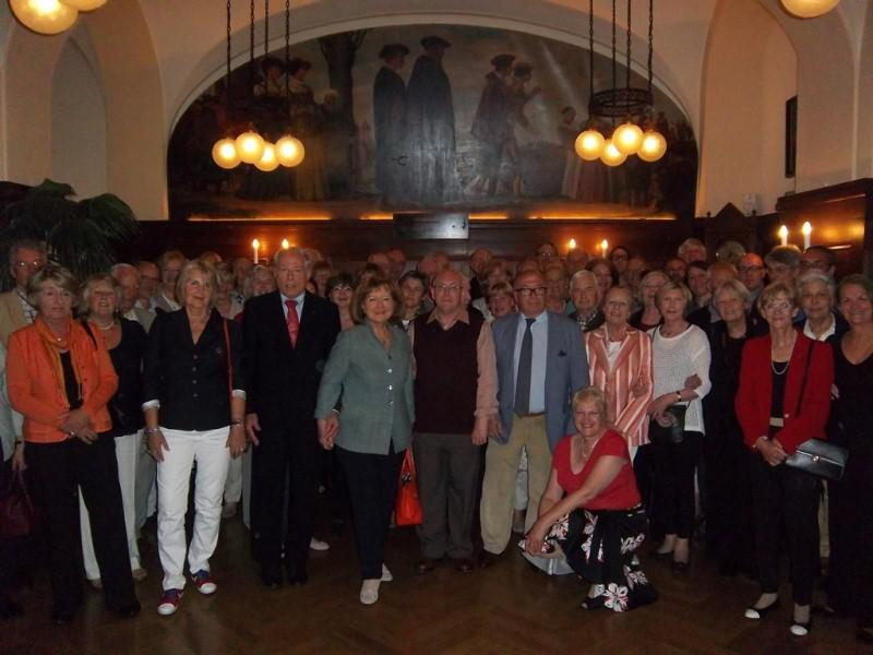 Contact Club Reunion in Leipzig - 49 Rotarians from Darmstadt-Kranichstein; 12 Rotarians from Poitiers-Futuroscope; 10 Rotarians from Westgate 7 Birchington