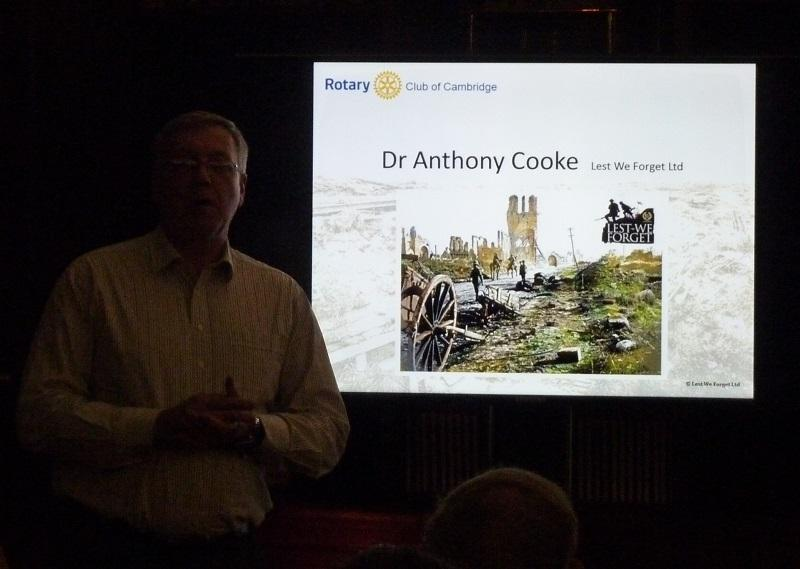 Dec 2015 Dr Anthony Cooke - WW1  - .