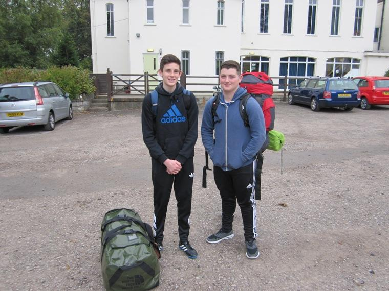RYPEN - 2015 - Liam Chow and Max Eldershaw  arriving at Castle Head Field Study Centre.