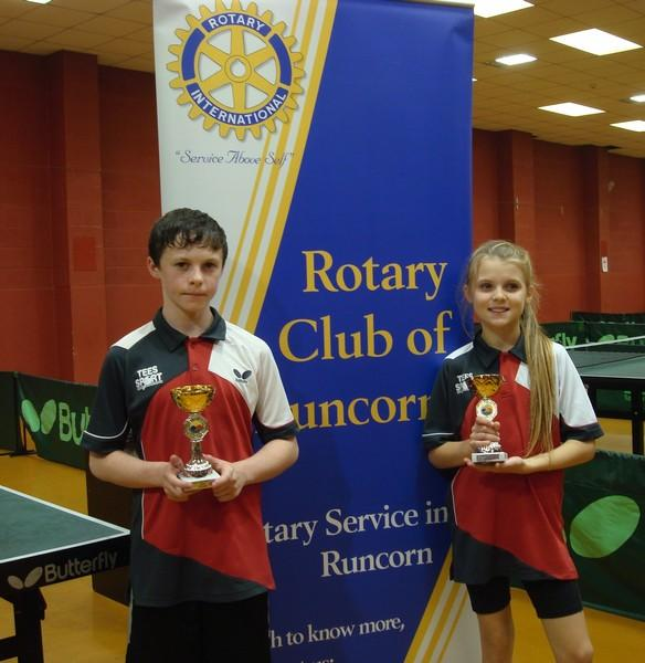 LOCAL SUCCESS AT HALTON 1 STAR TOURNAMENT - Liam and Ruby Halton 1 star winners of under 13 boys and girls
