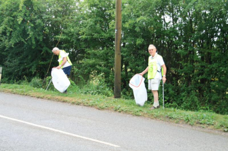 July 2013 Litter Pick - David and Paul on the Litter Pick