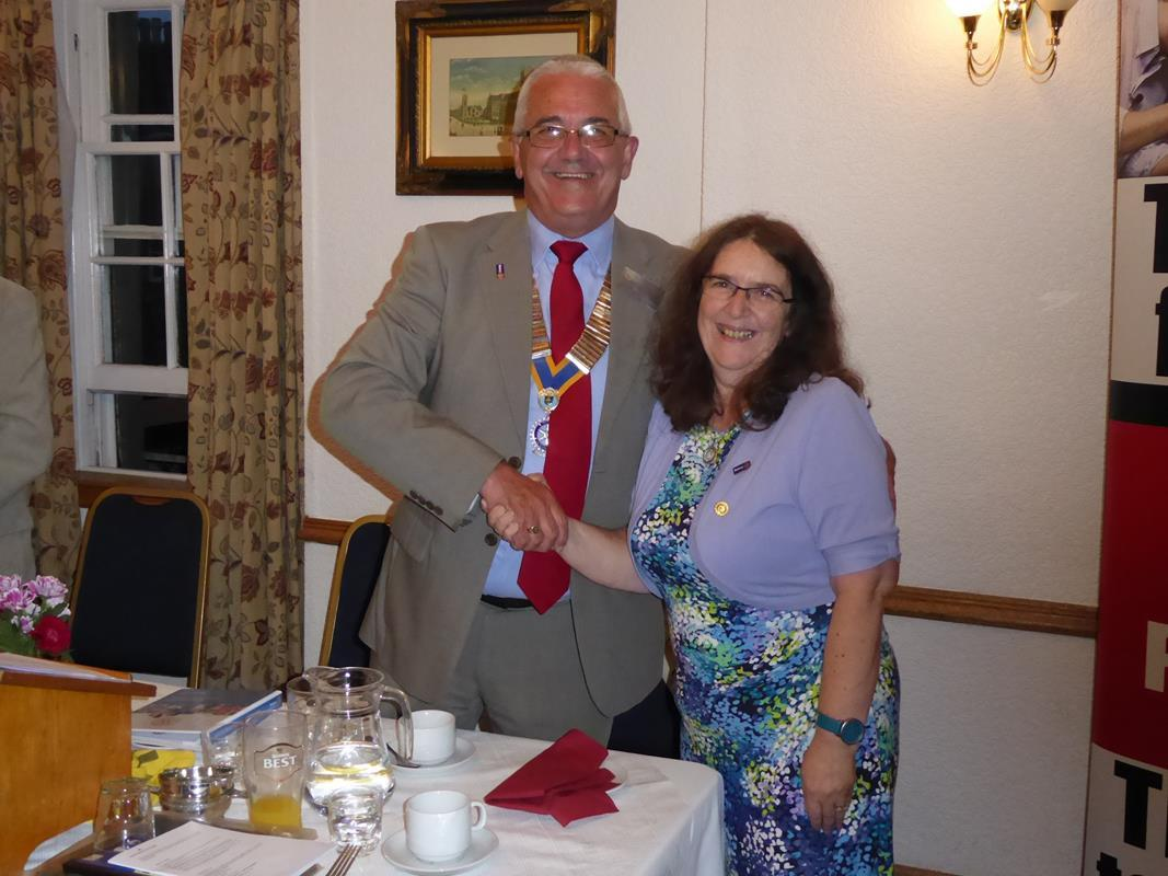 Membership - Liz Lees being welcomed as a new member on September 1, 2016