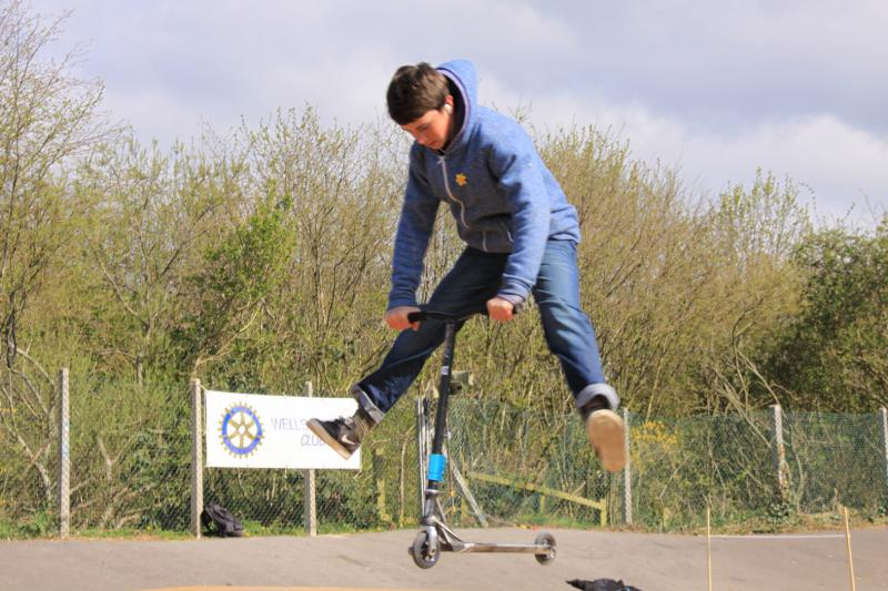 Wells Skate Board Park Re-Opening Ceremony - Local-scooter