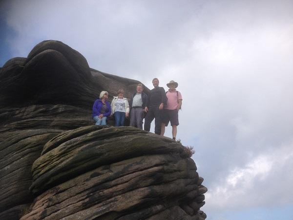 Derbyshire 2015 - Looking up to Mother Cap