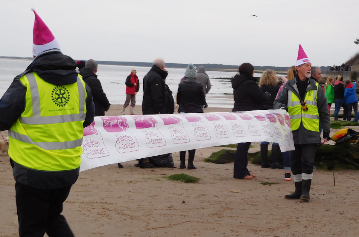 Community & Vocational - The Club provided stewards for the Loony Dook on New Year's Day