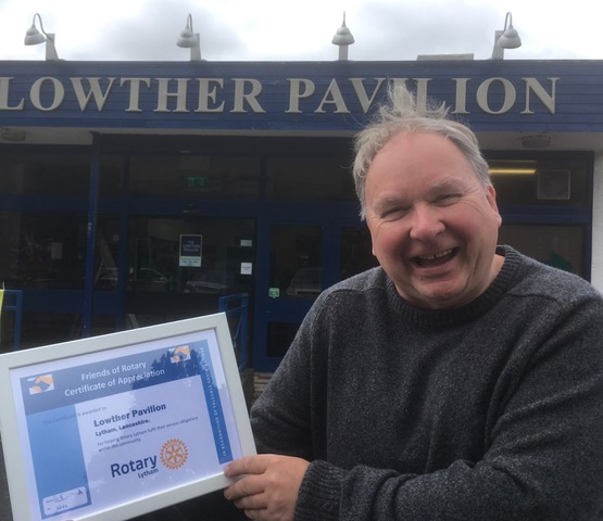 Lytham Rotary celebrates - Lowther Pavilion's Tim Lince
