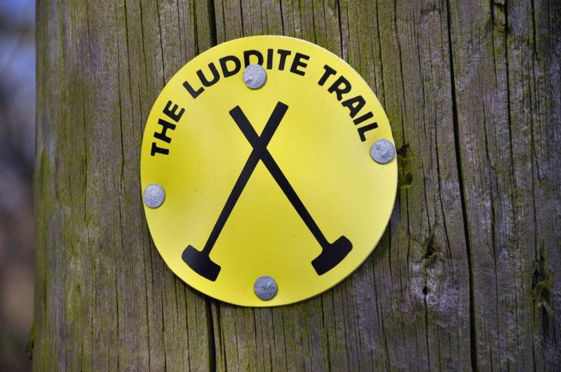 Afternoon Tea Walk for End Polio Now - Luddite sign