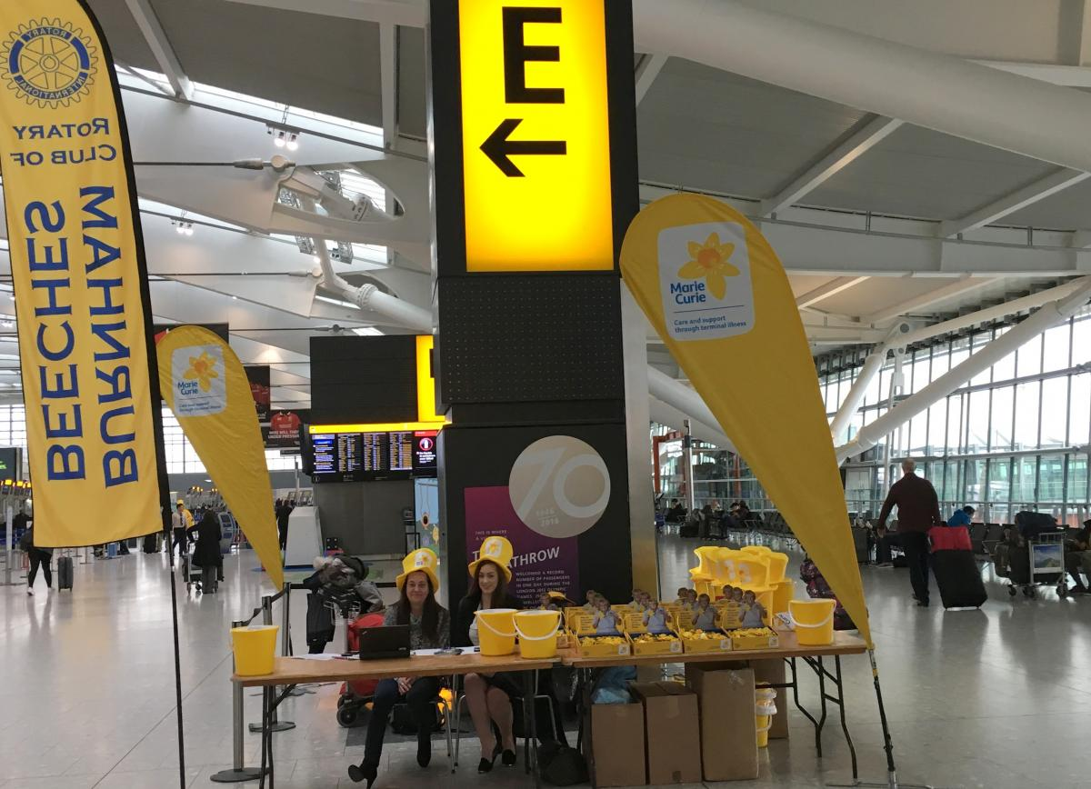 Marie Curie Collection at Heathrow T5 March 2017 - The Controllers