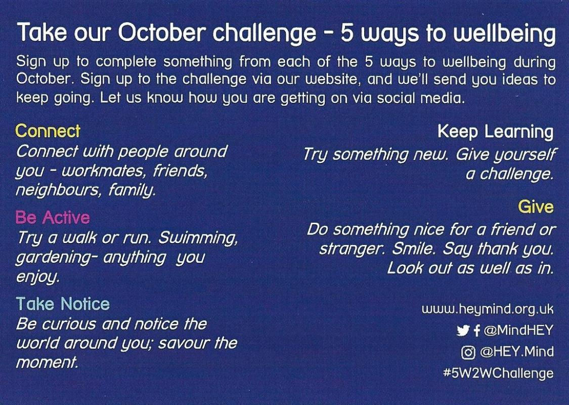 M.A.D. - Be part of Hull and East Yorkshire MIND's October Challenge