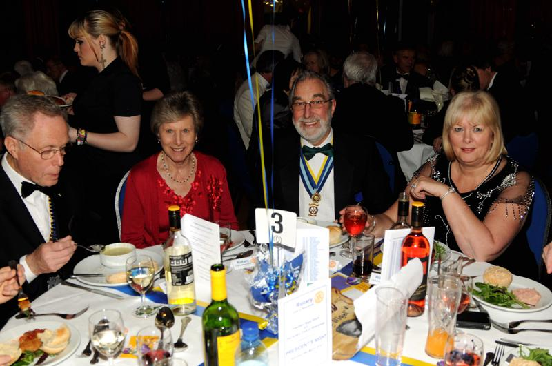 President's Night 29th March 2014 - Past District Governor Geoarge Kempton and his wife Margaret