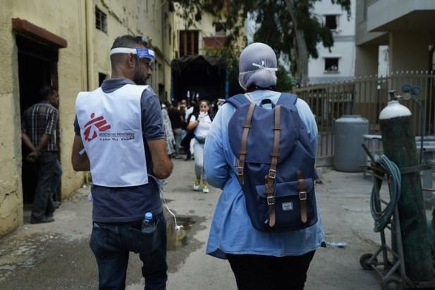 Donation for Beirut - MSF team carrying out door-to-door visits in the Beirut neighbourhood of Karantina