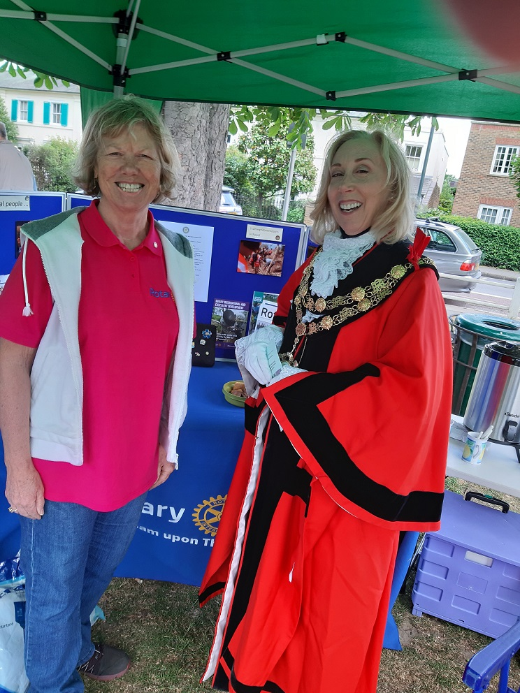 TuT at Hands Fair  - Richmond Mayor Nancy Baldwin called in for a lengthy chat about Rotary's efforts for the community