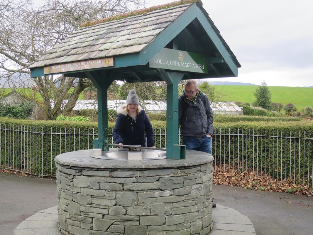 ABOUT Rotary Keswick - Making a wish at Hope Park Wishing Well