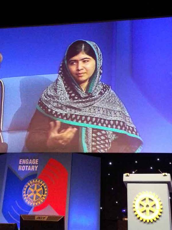 RIBI CONFERENCE REPORT - Malala speaks on education rights for girls at Rotary Birmingham conference