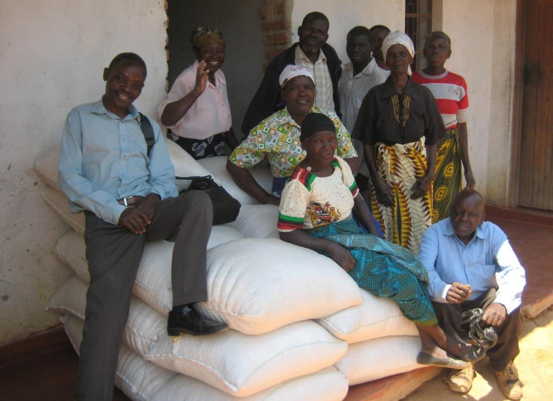Our Malawi Projects - Bags of maize available for sale or use