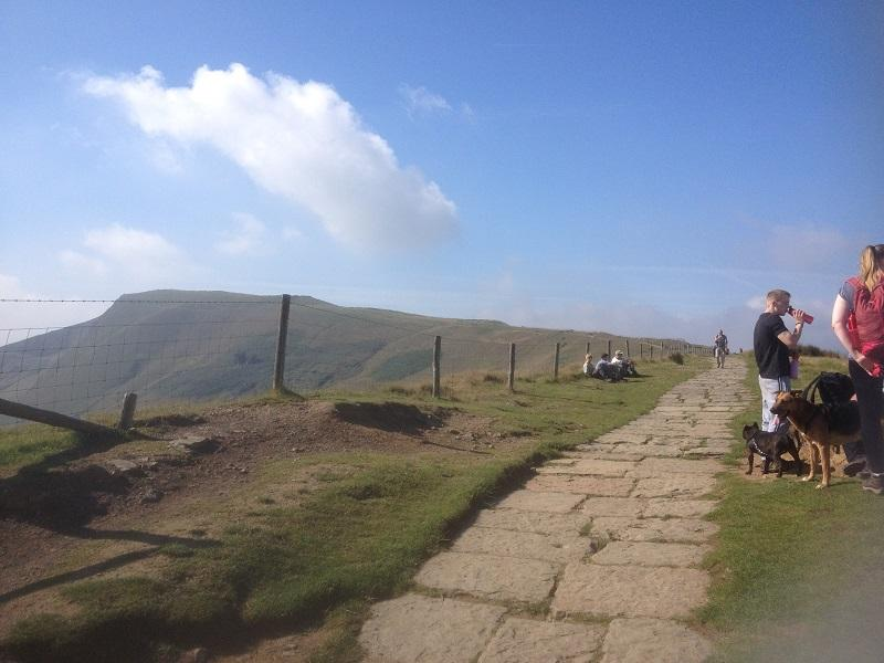 Derbyshire 2015 - After a short steep climb it was an easy walk along the ridge to Mam Tor in the distance