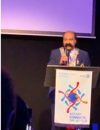District Handover 2019 - Manoj Addresses the Guests