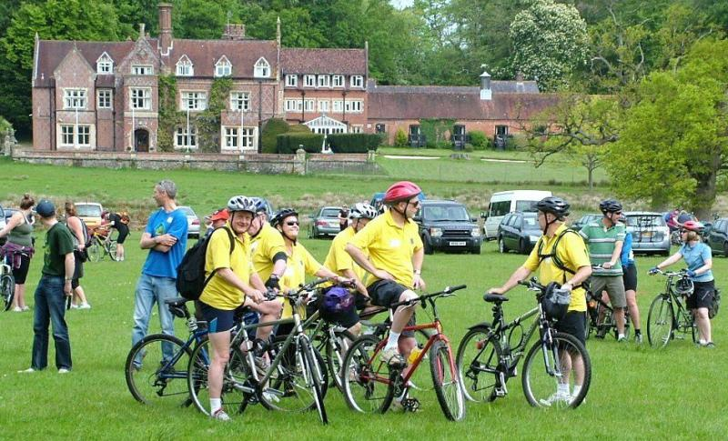 HORSE OR CYCLE OR WALK. OUR MAJOR EVENT OF THE YEAR. - Many riders set off in charity teams