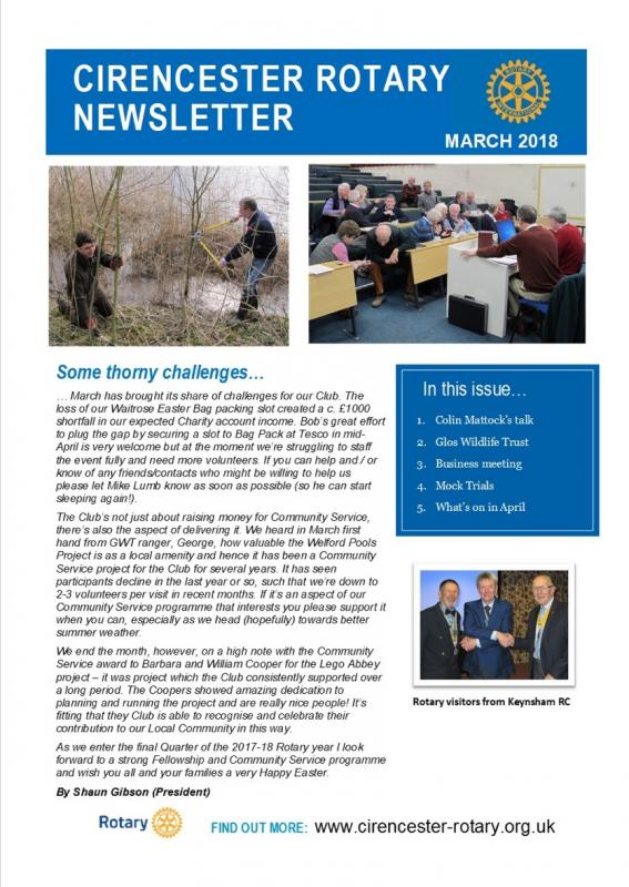 March 2018 Newsletter -