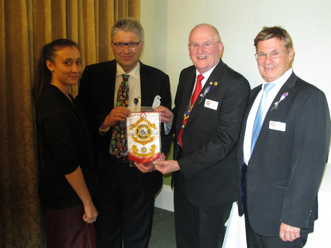 R.Y.L.A. camp - Maresha Grewel, Professor Patrick Ball from Wolverhampton University and Rotary Club of Darwen Sunrise (Australia) and PDG Richard Green from Wolverhampton Club.