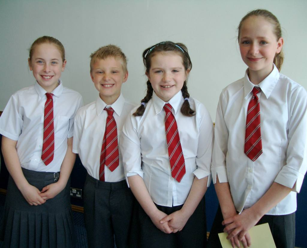Junior Public Speaking 2008 - L-R Amy, Lewis, Aalish and Emke