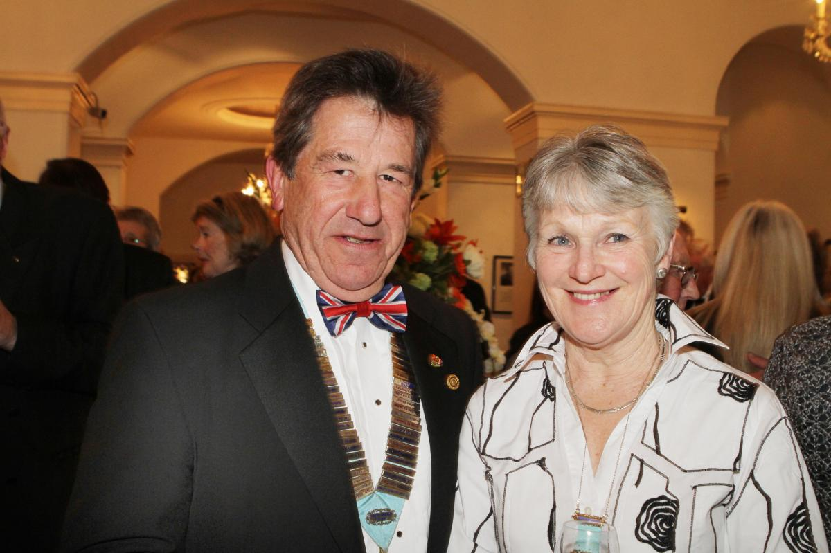 Cheltenham North Charter Anniversary Dinner 26th April 2012 - Martin and Ann Greaves