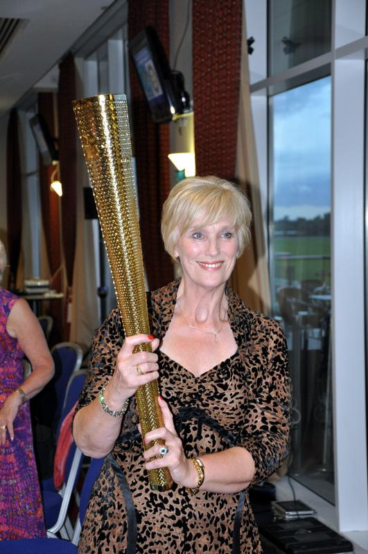 District 1040 Handover June 2012 - Mary with the Olympic torch