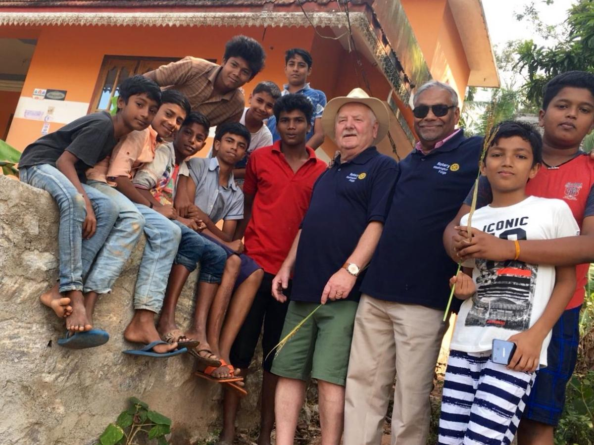 Tour of Kerala, India, 2018 - Spending time with the local youngsters, Kazhakuttom