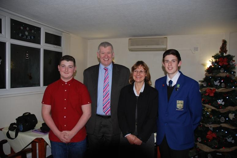 RYPEN - 2015 - Max,Tony, Headteacher Lynette Norris and Liam.