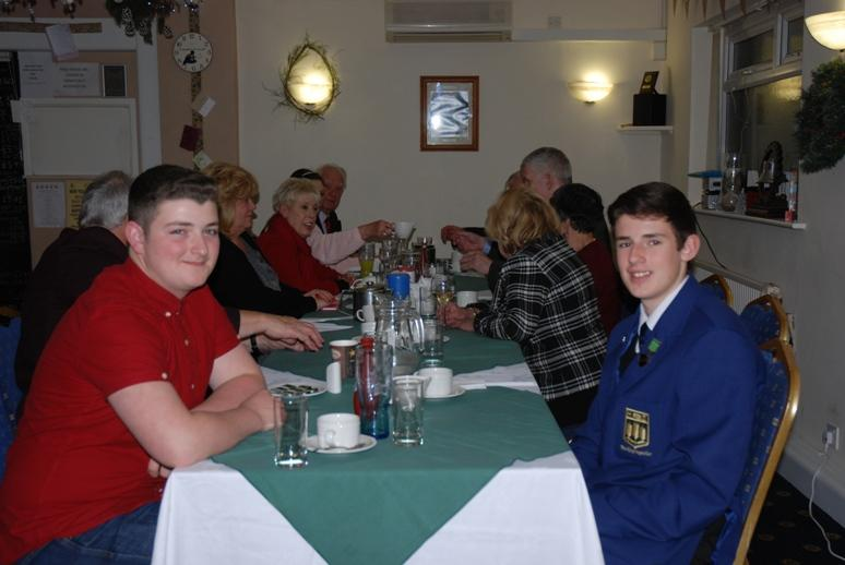 RYPEN - 2015 - Max and Liam relaxing before they give their presentation at Blackpool South Rotary Club.
