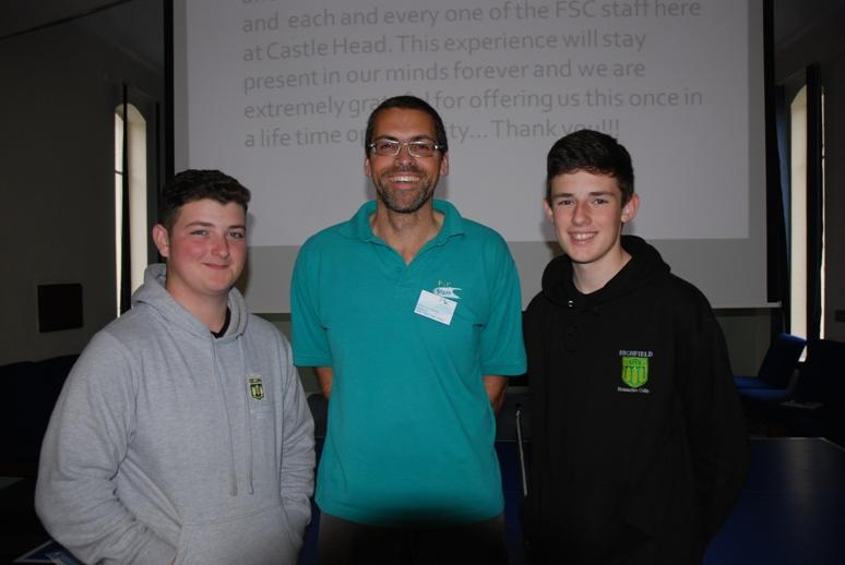 RYPEN - 2015 - Max and Liam with RYPEN Course Leader Dave Elphick.