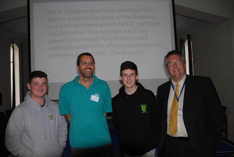 RYPEN - 2015 - Max, Dave, Liam with Mark Dufour, Highfield Humanities External Schools Manager.